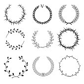 Set of different wreaths