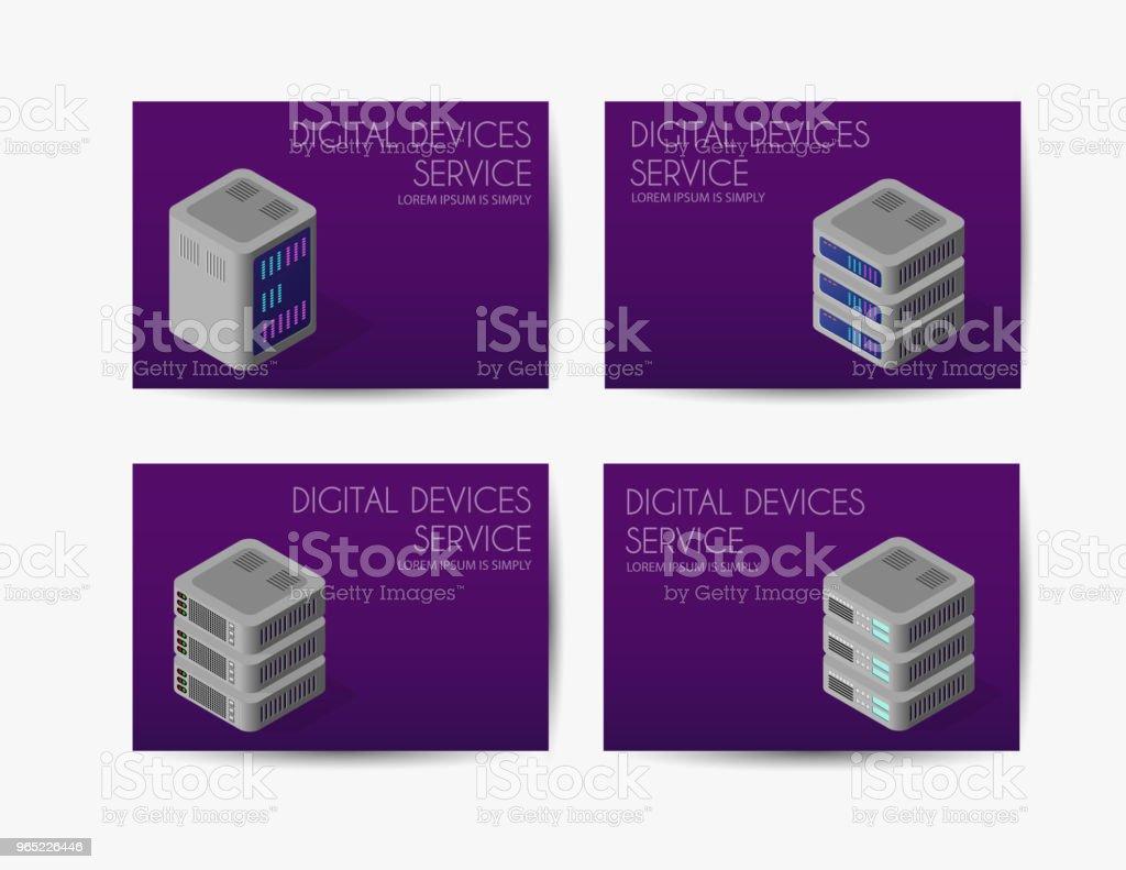 Set of digital template set of digital template - stockowe grafiki wektorowe i więcej obrazów bez ludzi royalty-free