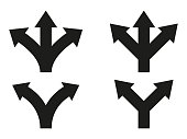 Set of direction arrows. Vector icons