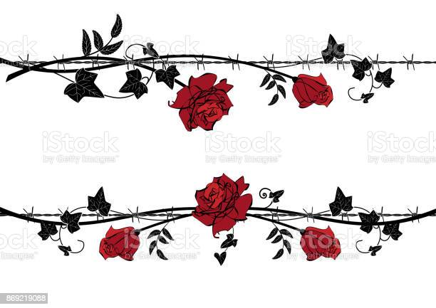 Set of dividers with rose with barbed wire vector id869219088?b=1&k=6&m=869219088&s=612x612&h=x0sodkh6pvpgdujcnwl dmdaitroeojagj4mhups3k4=