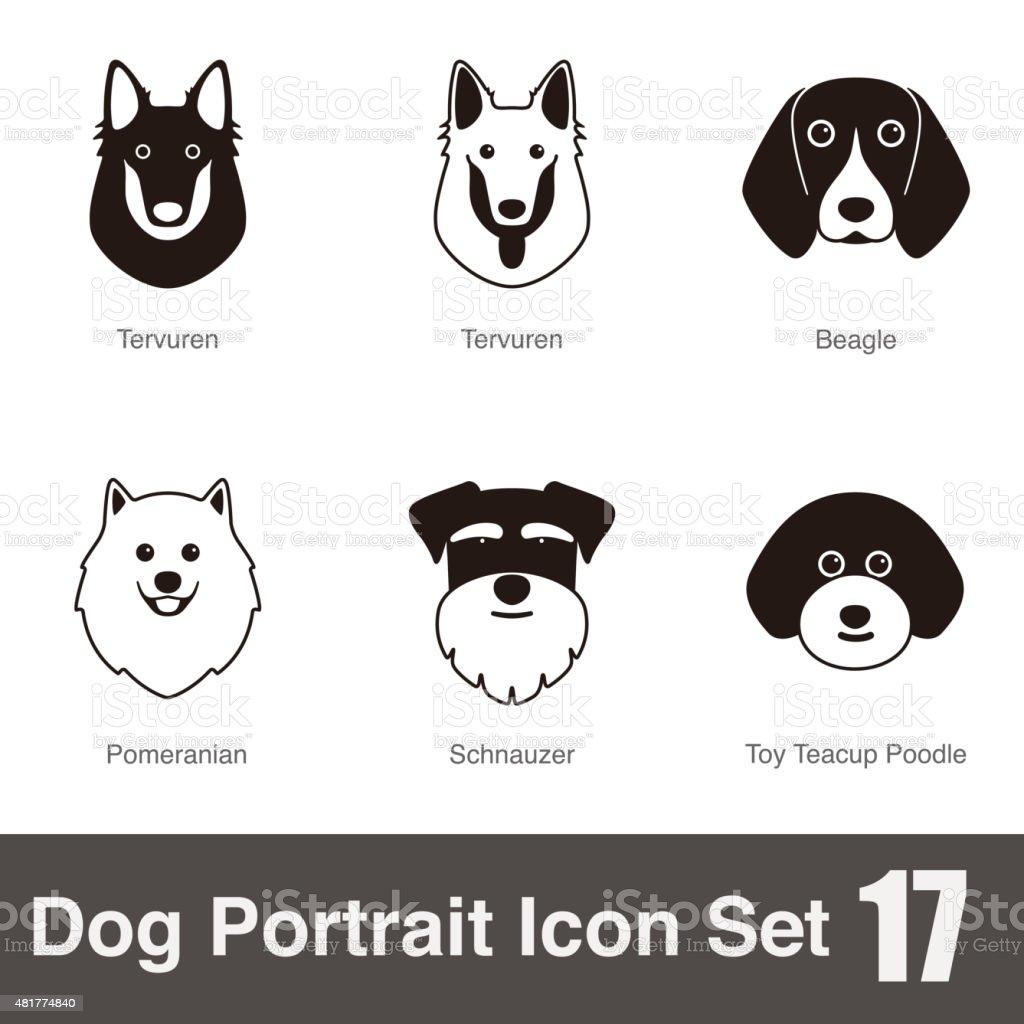 Se aceptan animales de carácter serie icono de cara - ilustración de arte vectorial