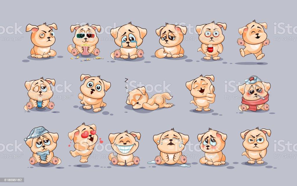 Conjunto de perros - ilustración de arte vectorial