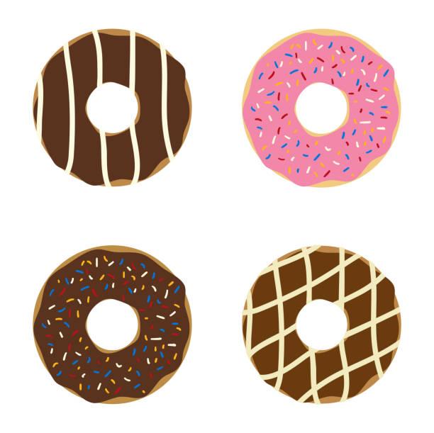 Set of donuts. vector art illustration