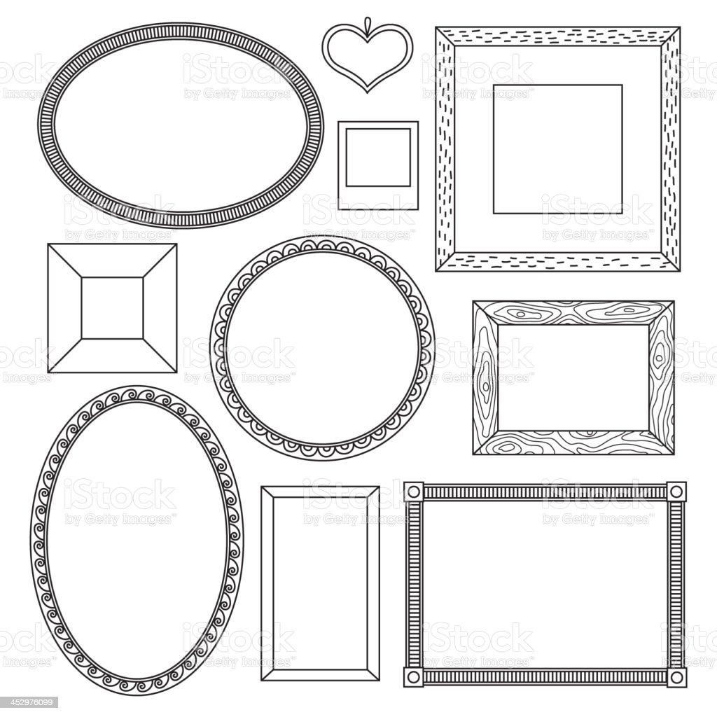 Satz Von Doodle Rahmen Stock Vektor Art und mehr Bilder von ...