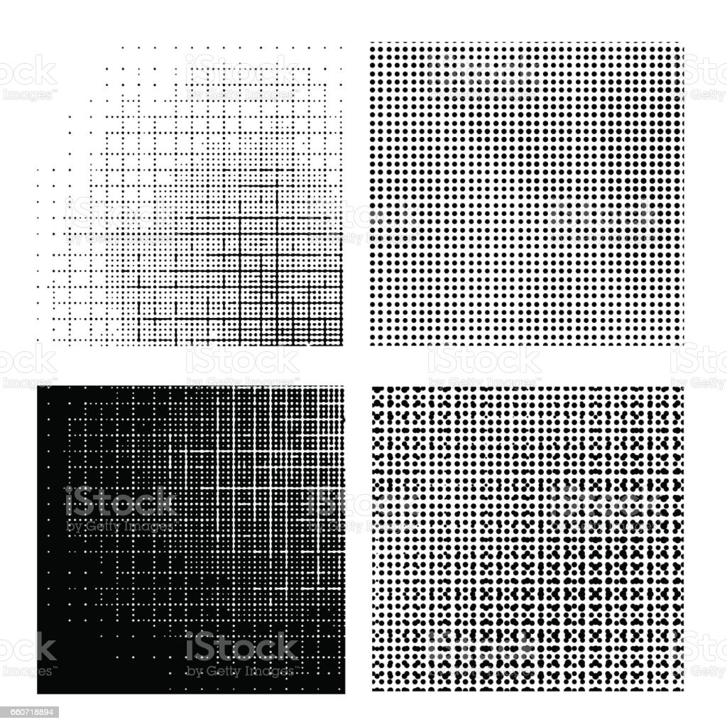 Set of Dotted Textures vector art illustration