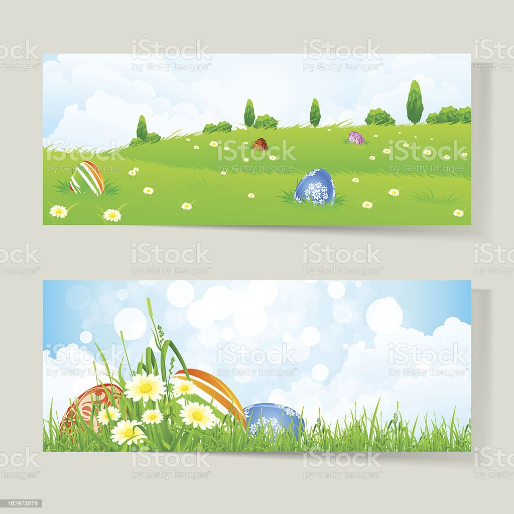 Set of Easter Cards with Eggs royalty-free stock vector art