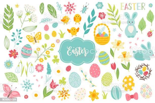 Set of easter design elements eggs chicken butterfly rabbit tulips vector id909965584?b=1&k=6&m=909965584&s=612x612&h=e9sfgvfqyrwerwpb29r5eu5dix73qdd69vrt41nz3kk=