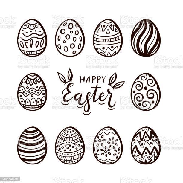 Set of easter eggs and lettering vector id932768942?b=1&k=6&m=932768942&s=612x612&h=8 bbthn7cavuztfmnzkliduo9f17qzwjqxuj0wihli4=