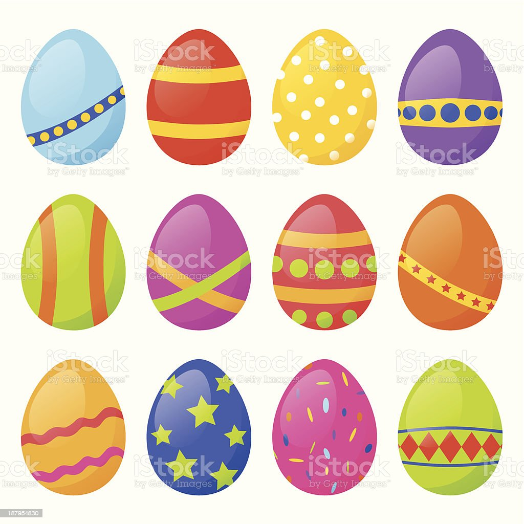 Set  of Easter eggs royalty-free stock vector art