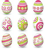 Set of Easter eggs. Vector illustration
