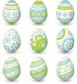Set of Easter eggs. Vector illustration