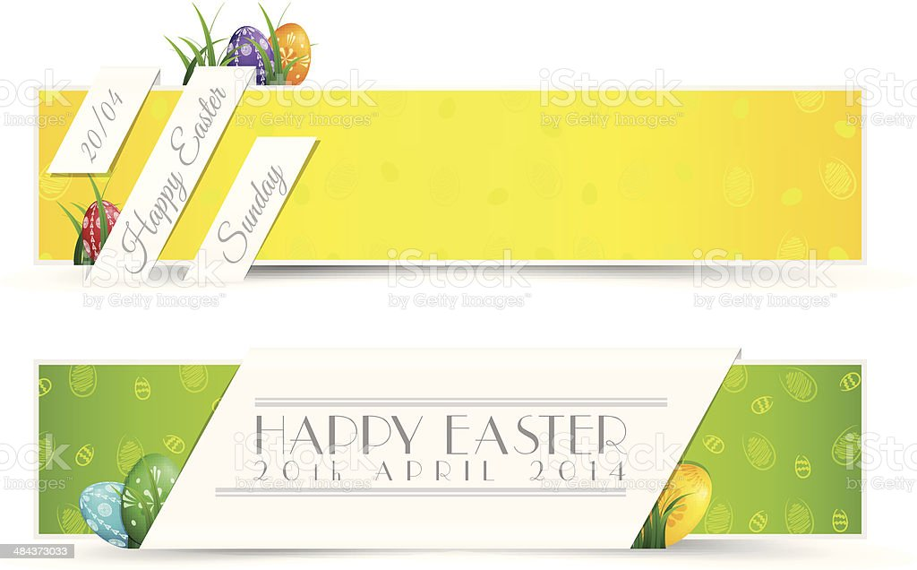 Set of Easter Holiady Banners royalty-free set of easter holiady banners stock vector art & more images of above