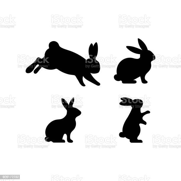 Set of easter rabbits silhouette in different shapes and actions vector id926172232?b=1&k=6&m=926172232&s=612x612&h=95cip4w9zfzr30wtbwpd6lzuvnwdqdlz lb4merbygq=