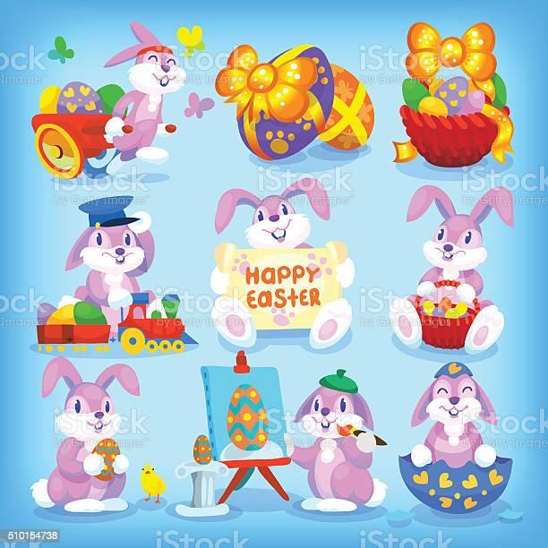 Set of easter rabbits vector id510154738?b=1&k=6&m=510154738&s=612x612&h=vj2ht070x4ue rzw 8rwzlrfkpoql1p1t1ircip 3cw=