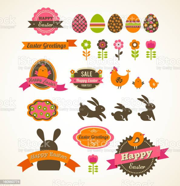 Set of easter vintage elements banner labels and frames vector id160950774?b=1&k=6&m=160950774&s=612x612&h= ioojs38tvyrft 1mxf7uxfnhyon3poy0ns72cv0uwa=