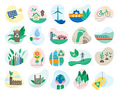 Environmental conservation symbols for multiple purposes. Editable vectors on layers.