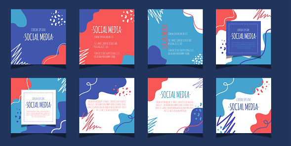 Set of Editable banner social media post collection and story template.