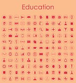 Set of education simple icons
