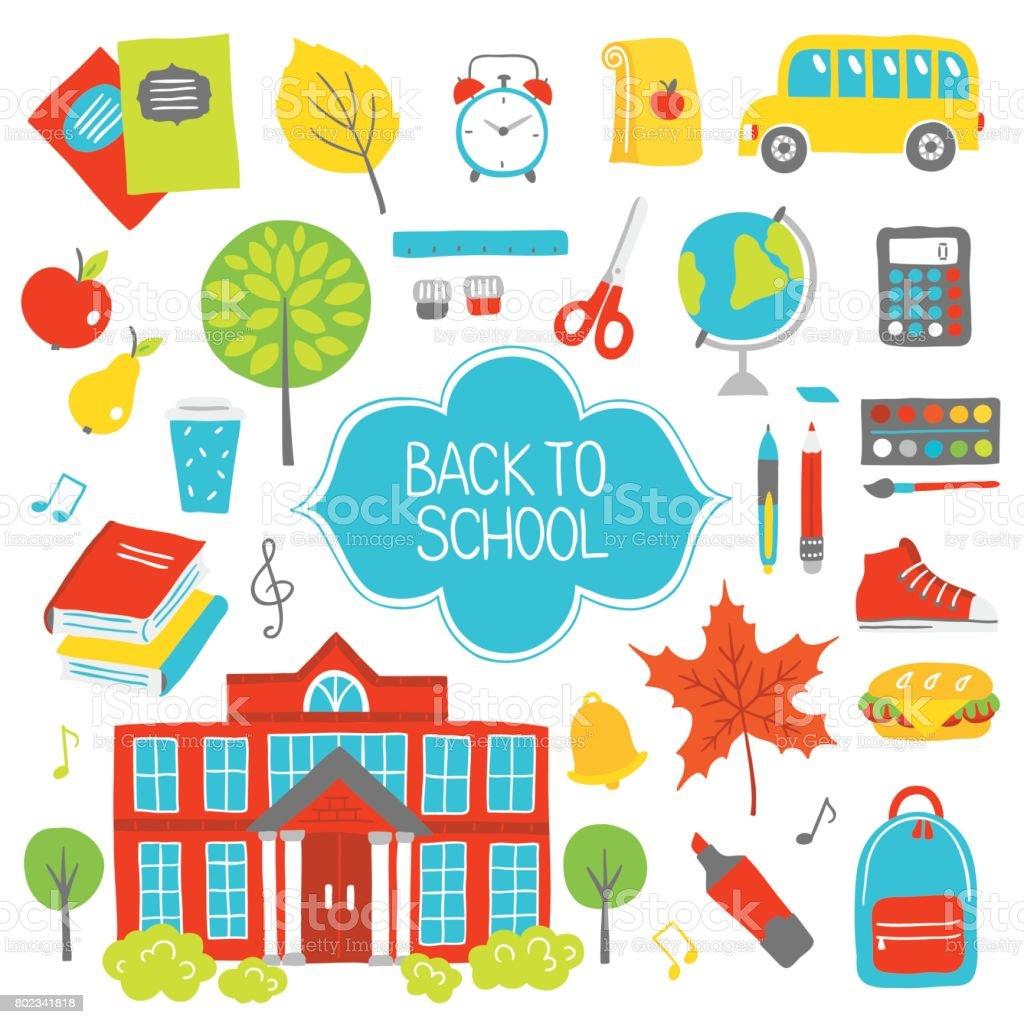 Verzameling van educatieve ontwerpelementenvectorkunst illustratie