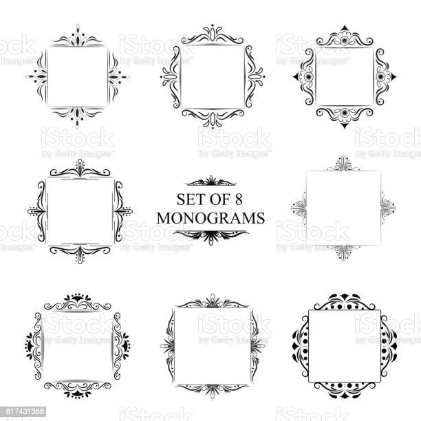 Set of eight decorative vintage monograms vector id817431358?b=1&k=6&m=817431358&s=612x612&h=b8zgapq8yzr7eap ty12sl19wftinhg4jvwpevz8fd4=