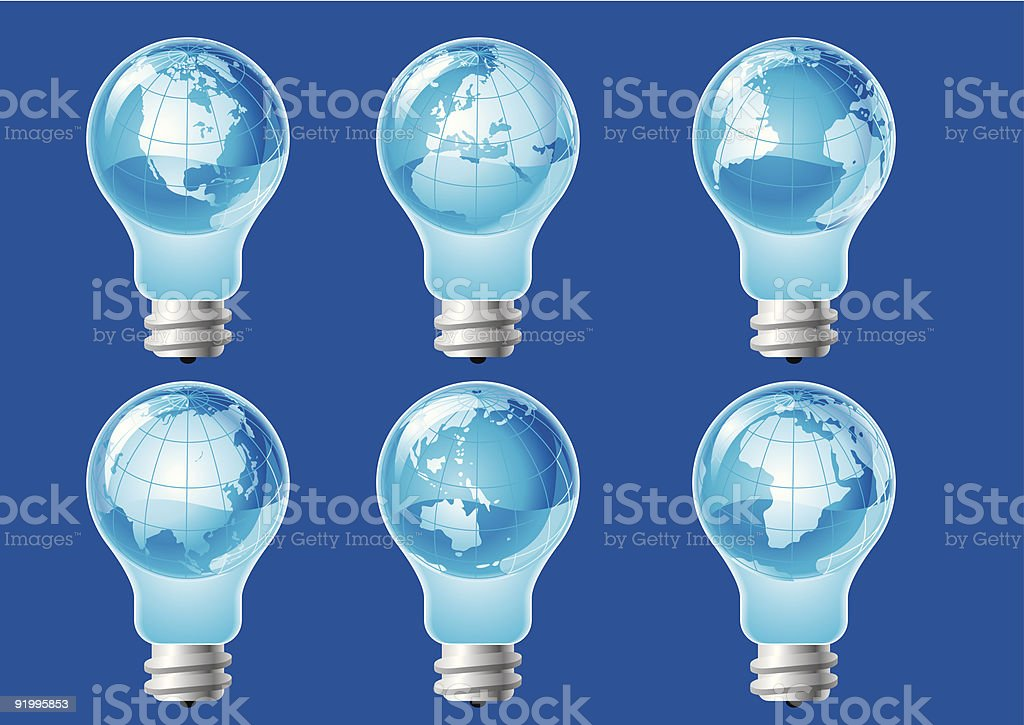 set of electric bulb royalty-free set of electric bulb stock vector art & more images of abstract