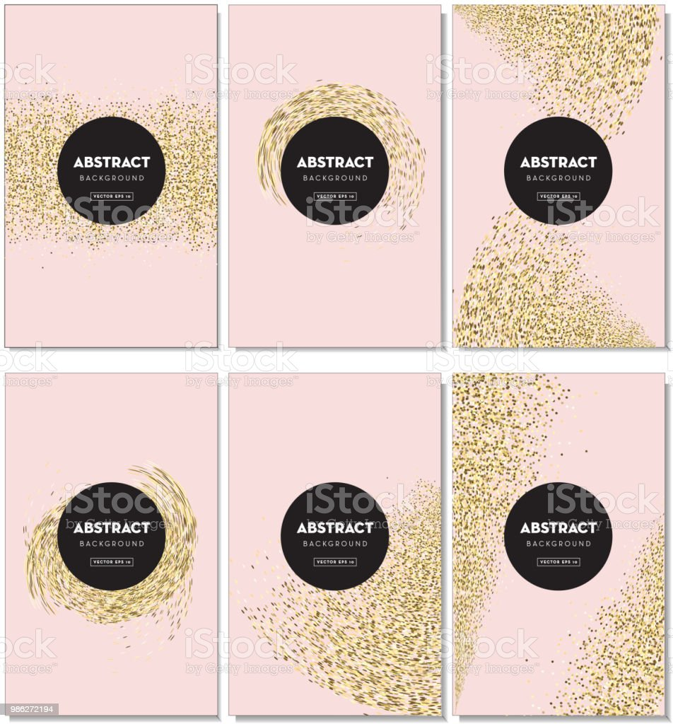 Set Of Elegant Glitter Background Design Templates With