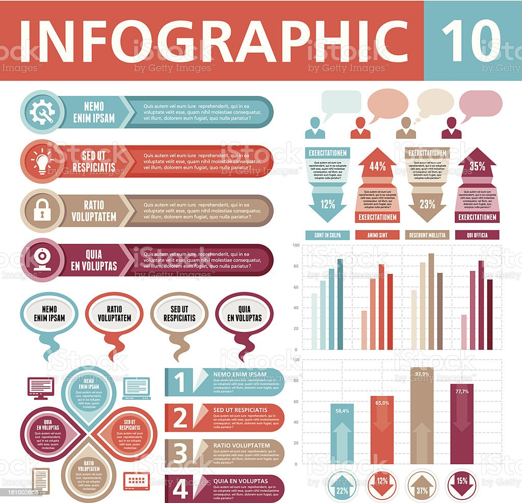 Set of elements for creative infographics royalty-free stock vector art