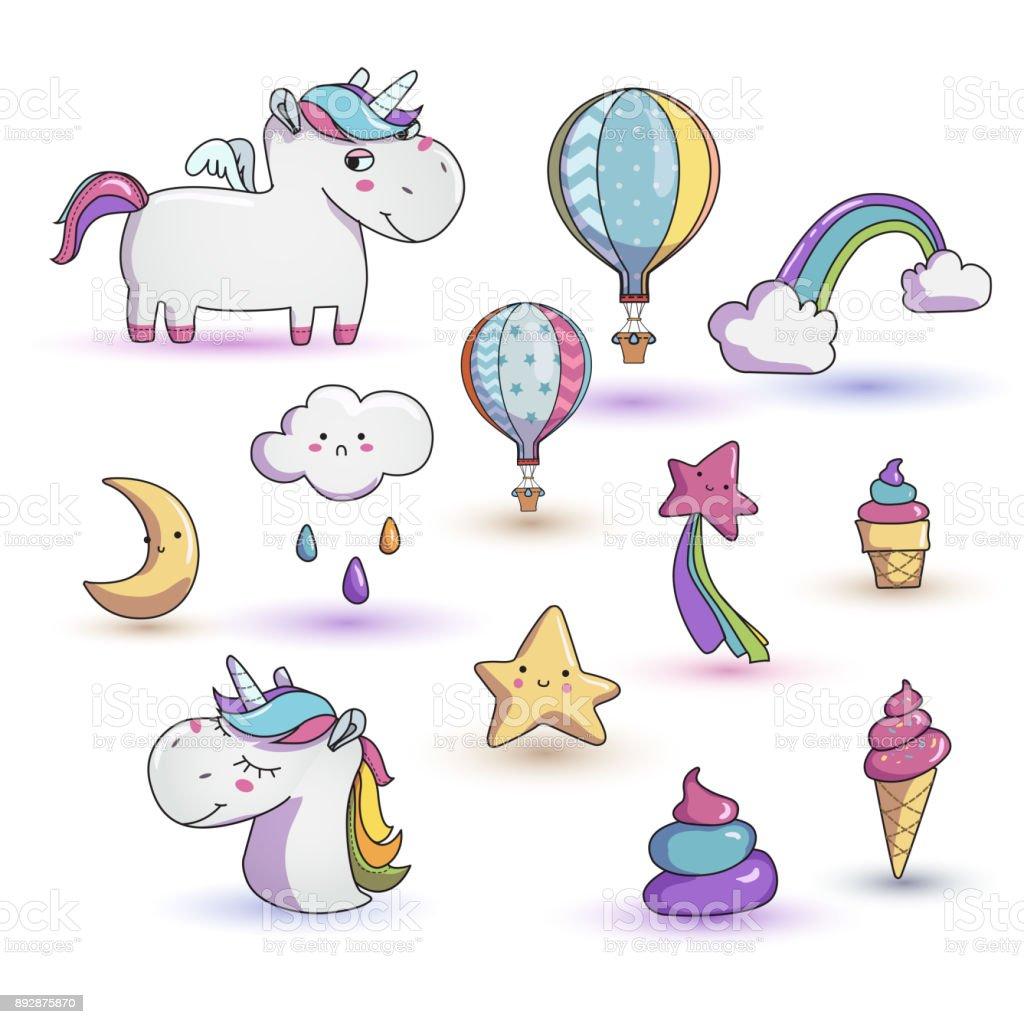 Rainbow Unicorn Clipart / Kawaii Pegasus Images / My Little Pony ...