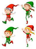 Set of elf character illustration