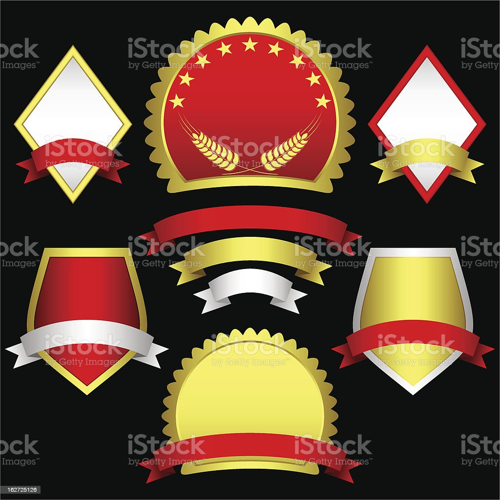 Set of emblems and banners. royalty-free set of emblems and banners stock vector art & more images of badge