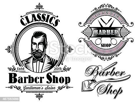 Set Of Emblems On A Theme Barber Shop Gm467583686 60693394