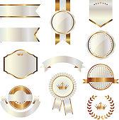 gold, labels, award, design