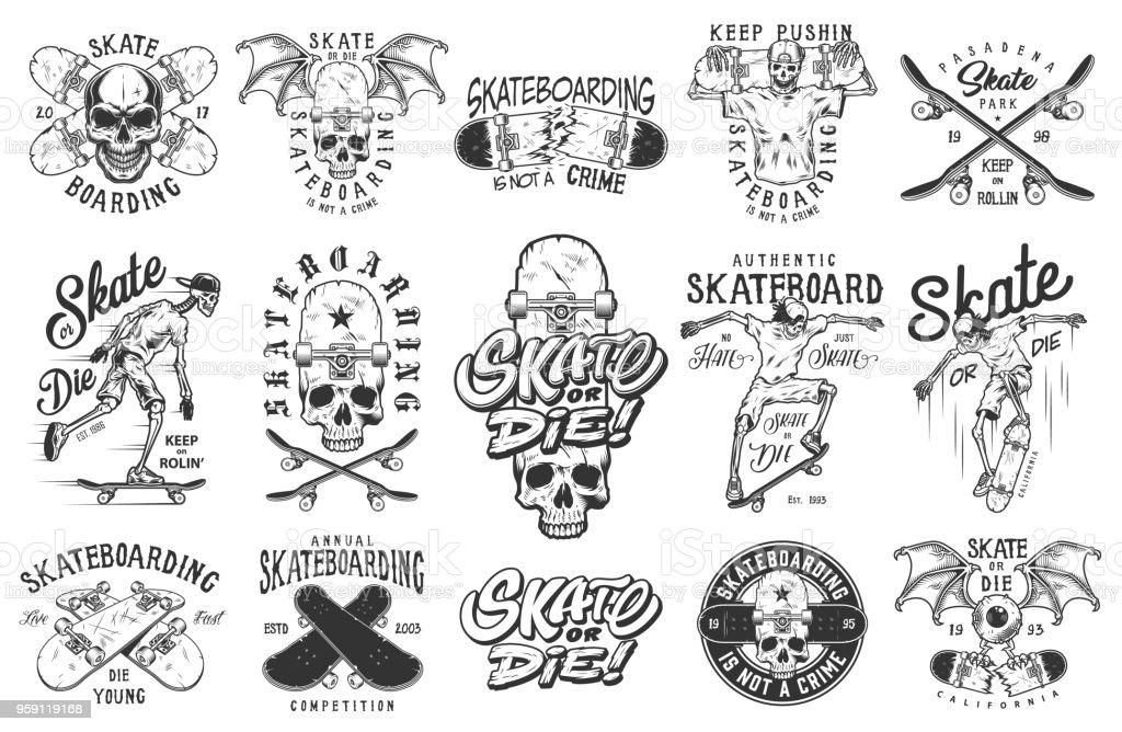 Set of emblems vector art illustration