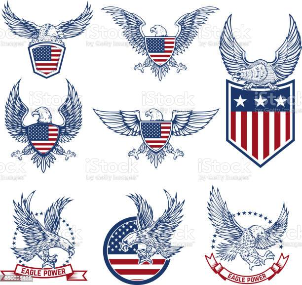 Set of emblems with eagles and american flags vector id856628428?b=1&k=6&m=856628428&s=612x612&h=n1mnmovyomcdyin q2sunvypr2dzmqy6ebda41vddx0=