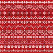 A set of different cross stitch embroidery border designs. Each border is seamless so it will tile horizontally. The thread is red and the background has a beige radial gradient that's on its own layer so it's easy to remove. Each border is properly grouped for easy editing. Download includes an AI10 EPS file as well as a high resolution RGB JPEG sized 3000x3000 pixels.