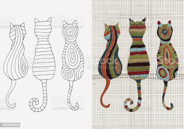 Set of embroidery designs cats vector embroidery home decor linen vector id833695846?b=1&k=6&m=833695846&s=612x612&h=x8evbejtykhfkpjfhqrvkntopp6untbpj 1dgaz1b o=