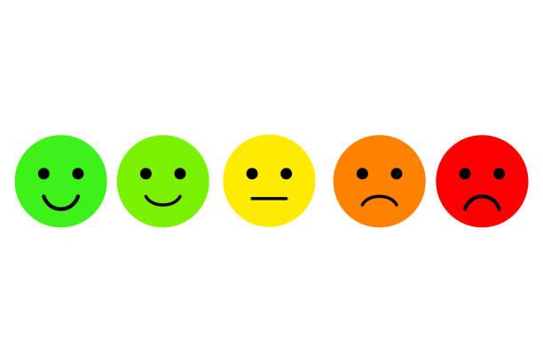 Ensemble d'emoji. Émoticônes vector icon. Notation pour le web ou app - Illustration vectorielle