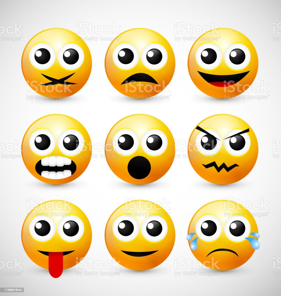 Set of Emoticons royalty-free set of emoticons stock vector art & more images of anger