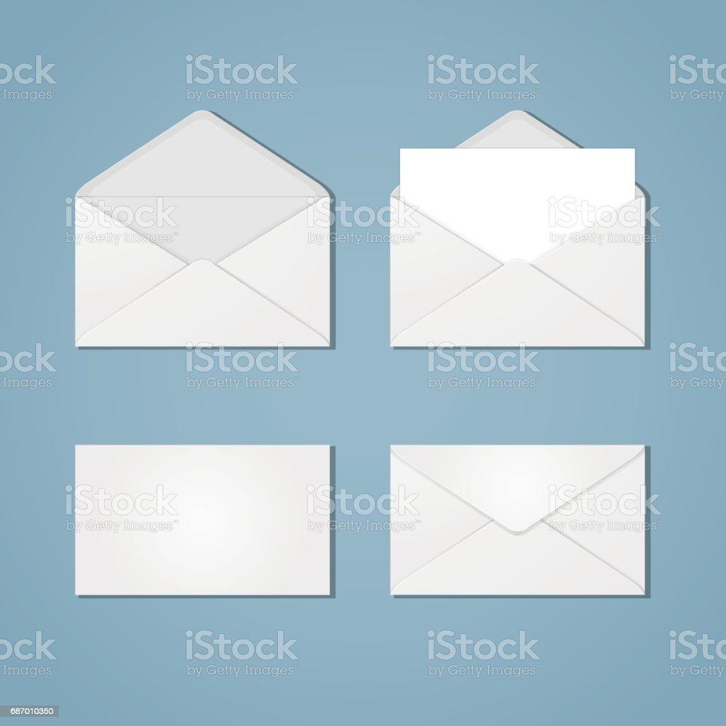 Set of envelope forms vector art illustration