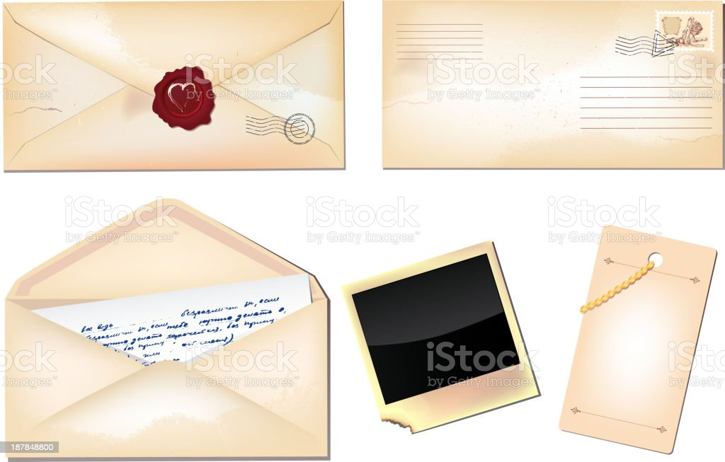 Set of envelopes royalty-free stock vector art