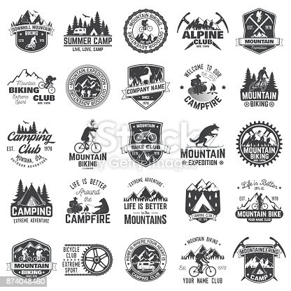 istock Set of extreme adventure badges. Concept for shirt or icon, print, stamp or tee 874048460