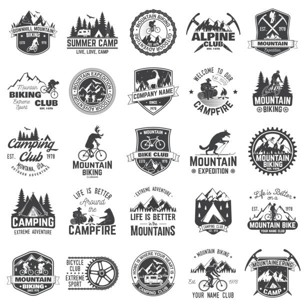 Instellen van extreme adventure badges. Concept voor shirt of pictogram, afdrukken, stempel of tee​​vectorkunst illustratie