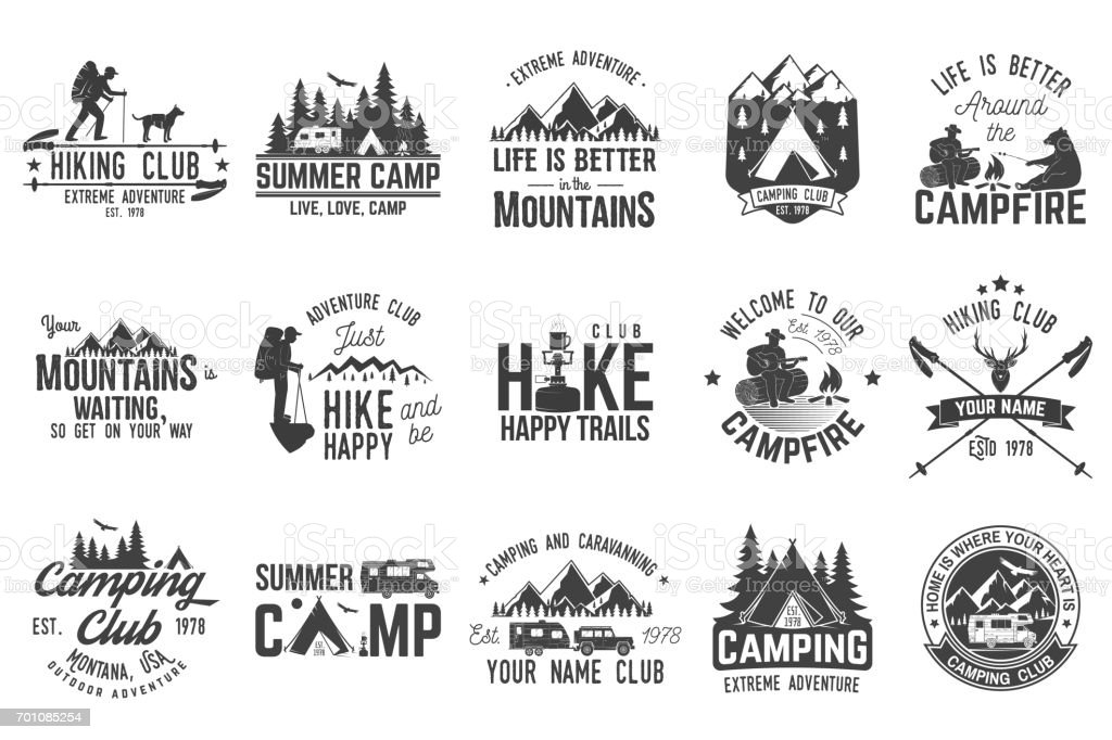 Set of extreme adventure badges. Concept for shirt or logo, print, stamp or tee. royalty-free set of extreme adventure badges concept for shirt or logo print stamp or tee stock illustration - download image now