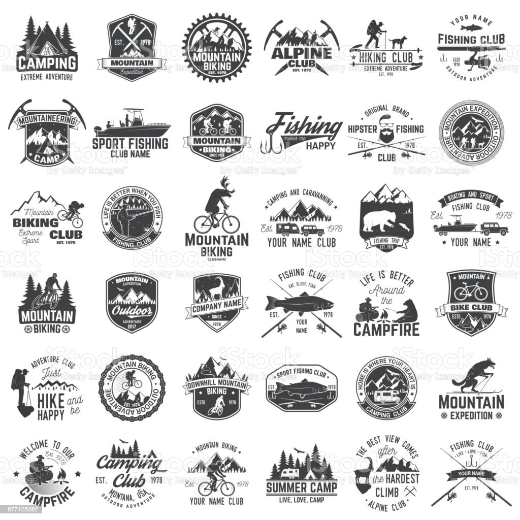 Set of extreme adventure badges. vector art illustration