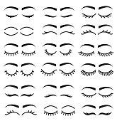 Set of eyelashes , vector illustration