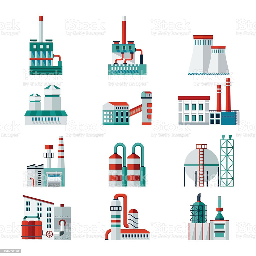 set of factory building royalty-free set of factory building stock vector art & more images of abstract