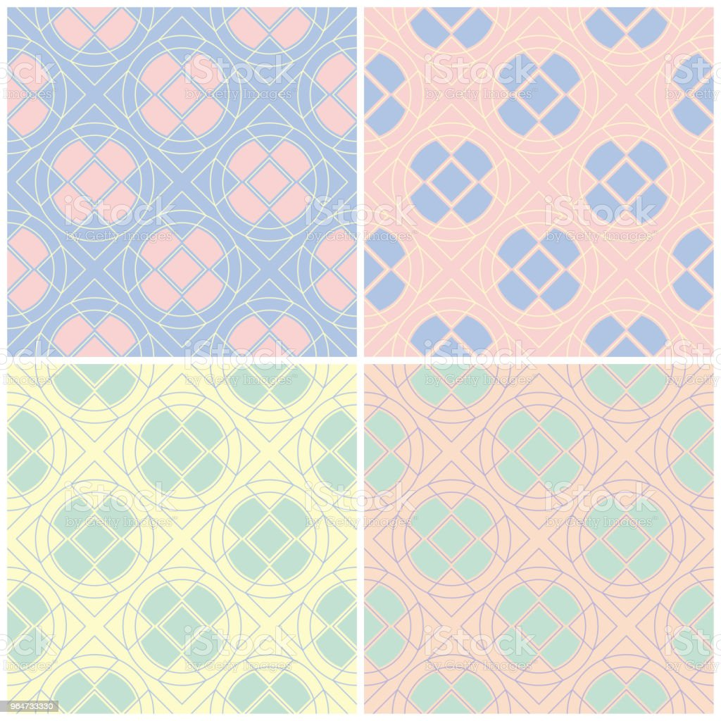 Set of faded colored seamless backgrounds with geometric patterns royalty-free set of faded colored seamless backgrounds with geometric patterns stock vector art & more images of abstract