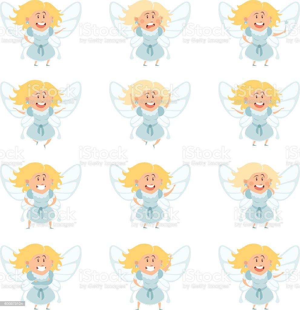 Set of fairy girls set of fairy girls - stockowe grafiki wektorowe i więcej obrazów bajka royalty-free