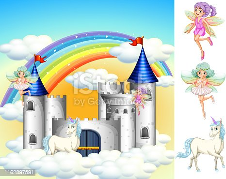 Set of fairy tale land