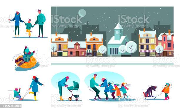 Set of families enjoying snowy winter vector id1195910303?b=1&k=6&m=1195910303&s=612x612&h=rx8basuq8zmq slkjf50 fqeky9wgt92aoz5mzayuyw=